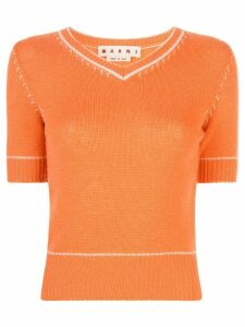 Marni knitted cashmere top - ORANGE