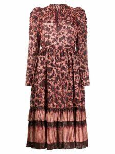 Ulla Johnson Nadia fitted midi dress - Red