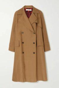 Victoria Beckham - Cotton-blend Canvas Trench Coat - Tan