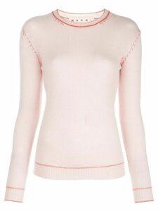 Marni cashmere contrasting stitch jumper - PINK