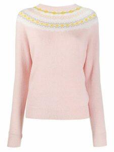 A.P.C. Miranda contrasting collar jumper - PINK