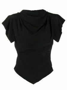 Isabel Marant mock neck fitted top - Black