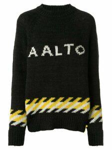 Aalto knitted logo jumper - Black
