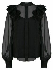 Erdem ruffle trimmed blouse - Black