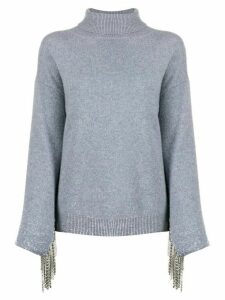 Christopher Kane cashmere embellished sleeve jumper - Grey
