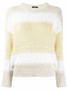 Peserico striped knit jumper - White