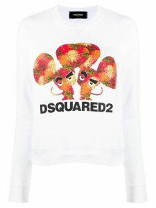 Dsquared2 logo printed sweatshirt - White