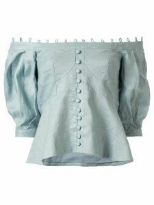 Joslin Cassidy peplum linen blouse - Green