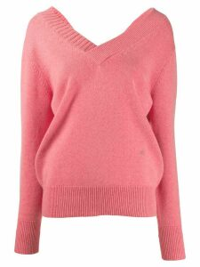 Victoria Beckham v-neck knitted jumper - PINK