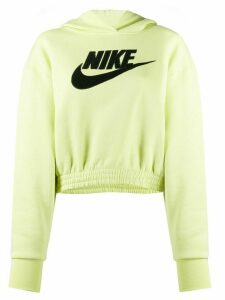 Nike logo-appliqué hooded sweatshirt - Yellow