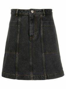 A.P.C. mid rise denim skirt - Black