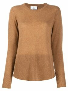 Allude curved hem jumper - Brown