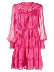 Ulla Johnson Emmeline gathered flared dress - PINK