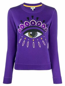 Kenzo eye crew neck sweatshirt - PURPLE