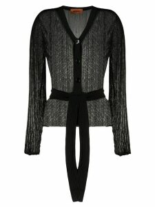 Missoni V-neck belted cardigan - Black