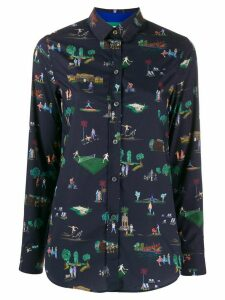 Paul Smith leisure print shirt - Blue