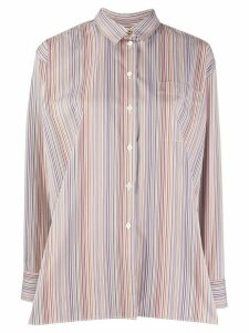 Paul Smith rainbow stripe shirt - Brown