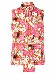 Marni botanical print blouse - PINK