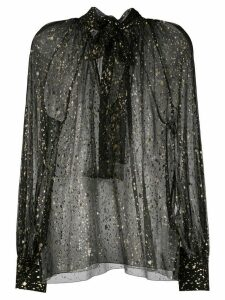 MSGM sketch print sheer blouse - Black