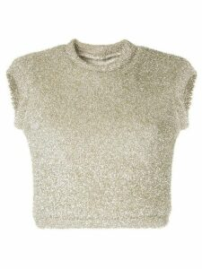 Bambah metallic knitted crop top - SILVER