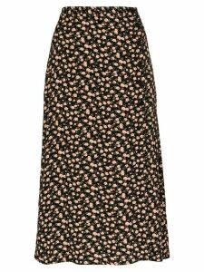 Reformation Jaime slit midi skirt - Black