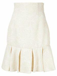 Bambah short ruffled skirt - White