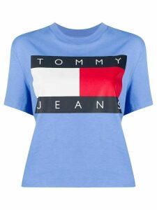 Tommy Jeans flag print cropped T-shirt - Blue
