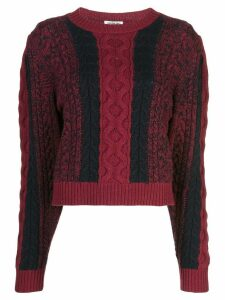 Jason Wu cable knit jumper - PURPLE