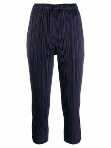 Pleats Please Issey Miyake plissé trousers - Blue