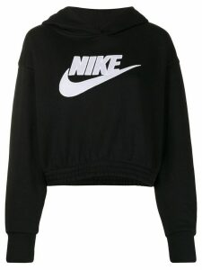 Nike cropped hooded sweatshirt - Black