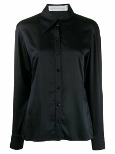 Victoria Victoria Beckham long sleeve pointed collar shirt - Blue