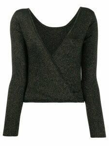 Forte Forte metallic wrap-back jumper - Black
