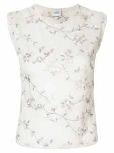 Giambattista Valli embroidered floral jumper - White