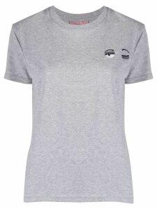 Chiara Ferragni Flirting embroidery slim-fit T-shirt - Grey