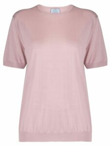 Prada rib-knit trimmed top - PINK