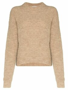 Reformation Finn high-neck knitted jumper - NEUTRALS