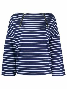 Semicouture striped long-sleeve top - Blue