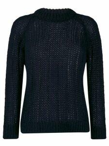 Prada ribbed knit jumper - Blue