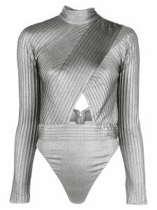 Tadashi Shoji cut-out body blouse - SILVER