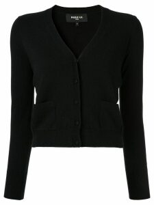 Paule Ka cropped knit cardigan - Black
