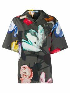 Prada floral shortsleeved shirt - Black
