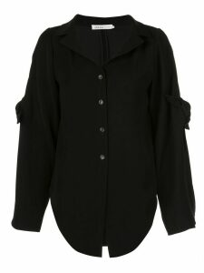 Adeam asymmetric tie detail shirt - Black