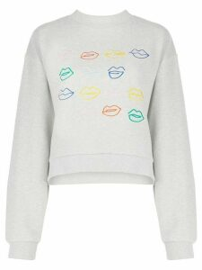Être Cécile Kiss Grid And Miss You sweater - Grey