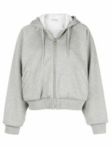 Opening Ceremony oversized zip-up hoodie - Grey