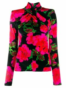 Richard Quinn twisted neck floral pattern top - PINK