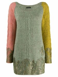 Etro knitted jumper with gold accents - Green