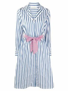 Être Cécile striped belted shirt dress - Blue