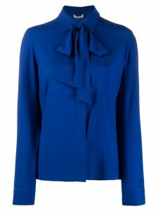 P.A.R.O.S.H. bow neck blouse - Blue