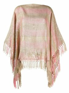 Brunello Cucinelli fringed striped tunic top - GOLD