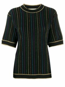 Gucci stripe knitted top - Black